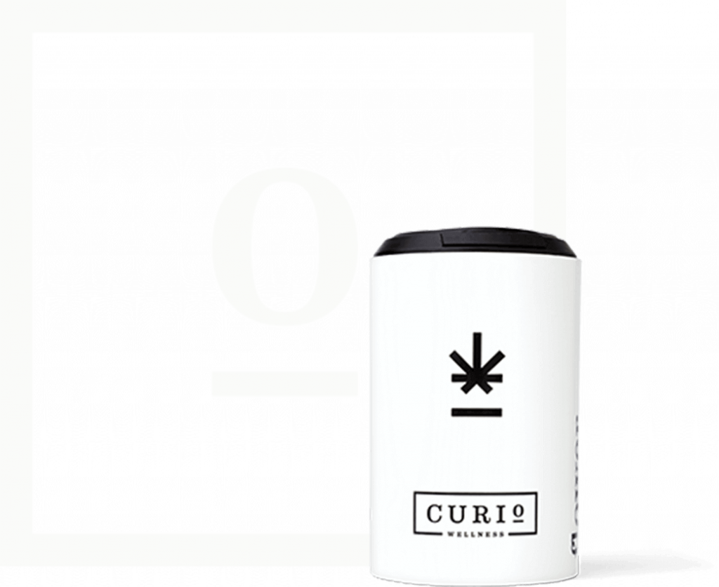 Curio Wellness Bottle and logo